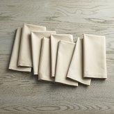 Crate & Barrel Set of 8 Fete Ecru Ivory Cloth Napkins