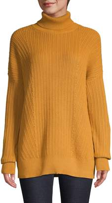 Lord & Taylor Petite Knit Drop-Shoulder Turtleneck