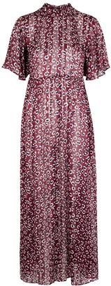 Palones Aurora burgundy chiffon maxi dress