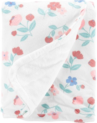 Carter's Baby Girl Floral Plush Blanket