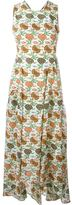 Tory Burch floral print open back dress - women - Silk/Polyester - 8