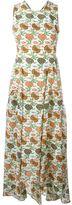 Tory Burch floral print open back dress - women - Silk/Polyester - 8