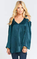 MUMU Shoulder Boo Tunic ~ Dark Forest Sheen