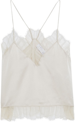 IRO Bajado Lace-trimmed Silk-charmeuse Camisole