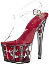Pleaser USA Women's Ado708fl/C/R Platform Dress Sandal,M US