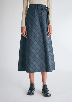Engineered Garments Women's Wrap Skirt in Blackwatch Nyco Cloth, Size 1