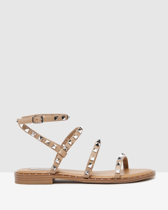 Steve Madden Women's Nude Flat Sandals - Travel Tan - Size One Size, 8 at The Iconic