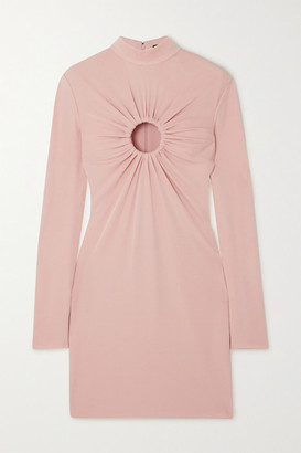 Tom Ford Cutout Stretch-crepe Mini Dress - Pink