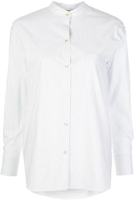 Vince striped Mandarin-collar shirt