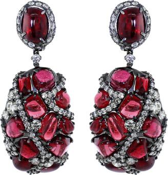 Arunashi Spinel And Diamond Earrings