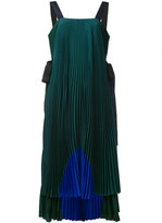 Fendi colour-block pleated dress - women - Silk - 40
