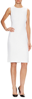 St. John Cable Knit Sheath Dress
