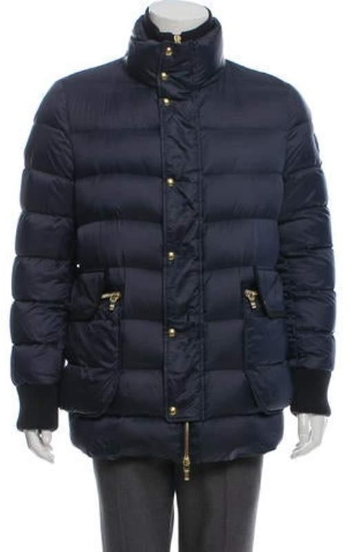 ff4c56827 Down-Filled Puffer Coat Bleu Down-Filled Puffer Coat