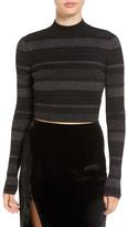 KENDALL + KYLIE Kendall & Kylie Sparkle Crop Sweater
