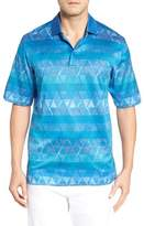 Bugatchi Men's Triangle Jacquard Polo