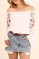 Umgee USA Embroidered Off Shoulder