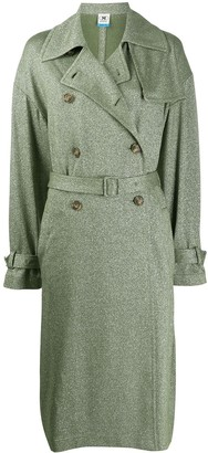 M Missoni Metallic-Thread Trenchcoat