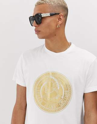 Versace t-shirt in white with gold logo