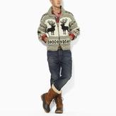 Hand-Knit Wool Zip Sweater