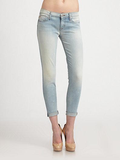Hudson Harkin Super Skinny Rolled Jeans
