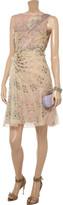 Valentino Floral-print silk-chiffon and lace dress