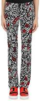 Paco Rabanne WOMEN'S GRAFFITI-PRINT STRETCH-COTTON SKINNY-LEG PANTS