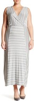 Loveappella Sleeveless Striped Maxi Dress (Plus Size)