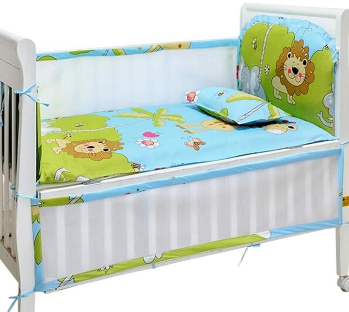 Kylin Express Set of 4 Nursery Baby bassinet/Crib Bedding Bumper Crashproof Cushion Forest