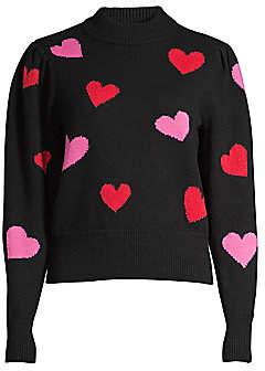 Kate Spade Women's Mock-Neck Hearts Sweater