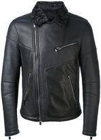 Drome contrast collar biker jacket