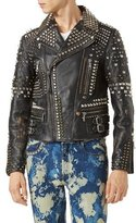 Gucci Studded Leather Biker Jacket, Black
