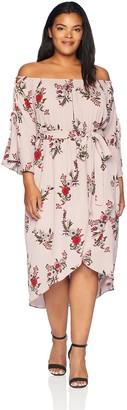 City Chic Women's Apparel Women's Plus Size Dress Skye Floral XXL