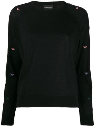 Emporio Armani logo patterned jumper