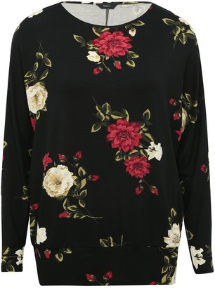 M&Co Floral batwing top