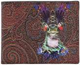 Etro Psychedelic Frog Fabric & Leather Wallet