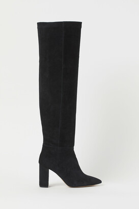 H&M Suede knee-high boots