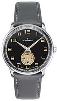 Junghans 027/3607.00 Meister Handwind Leather Strap Watch, Grey/black
