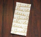 Pottery Barn Fa La La Tea Towel - Gold