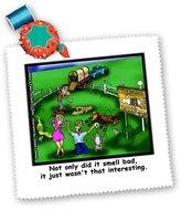 3dRose LLC qs_1416_1 Londons Times Funny Animals Cartoons - Roadkill Petting Zoo - Quilt Squares