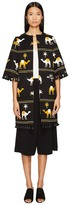 Kate Spade Spice Things Up Embroidered Camel Coat