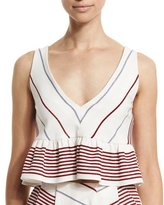 Elizabeth and James Annaline Striped Crop Top, Multi Colors