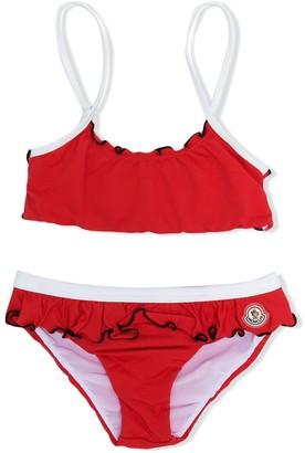 Moncler Enfant Ruffle Detail Bikini
