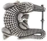 Kieselstein-Cord Sterling Grand Alligator Belt Buckle