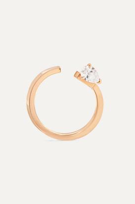 Repossi Serti Sur Vide 18-karat Rose Gold Diamond Earring