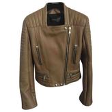 Balmain Khaki Leather Jacket