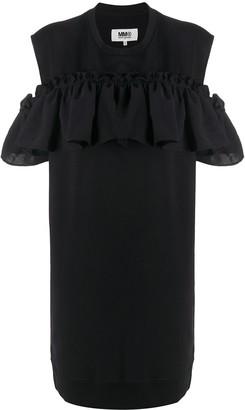 MM6 MAISON MARGIELA Cut-Out Ruffled Short Dress