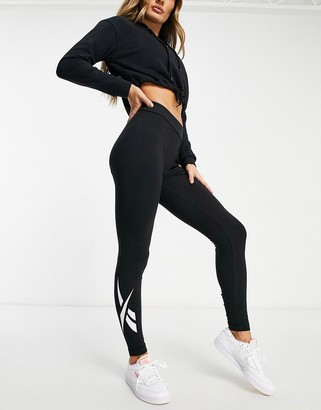 Reebok logo leggings in black