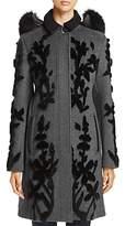Elie Tahari Julia Wool Applique Coat