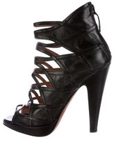 Alaia Leather Caged Sandals