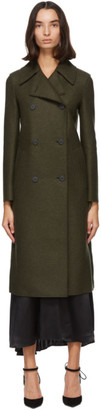 Harris Wharf London Khaki Pressed Wool Military Coat
